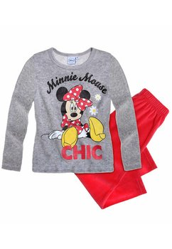 Pijama welur Minnie gri 0028