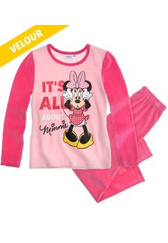 Pijama welur Minnie roz 0028