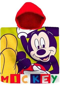 Poncho, bumbac, Mickey, multicolor, 60cm x120cm