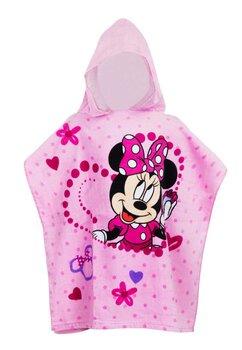 Poncho fete, Love Minnie, roz, 120 x 60 cm