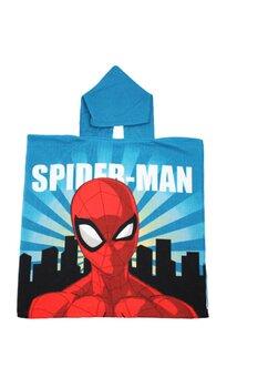 Poncho, Spider Man, New York, albastru, 55 x 110 cm