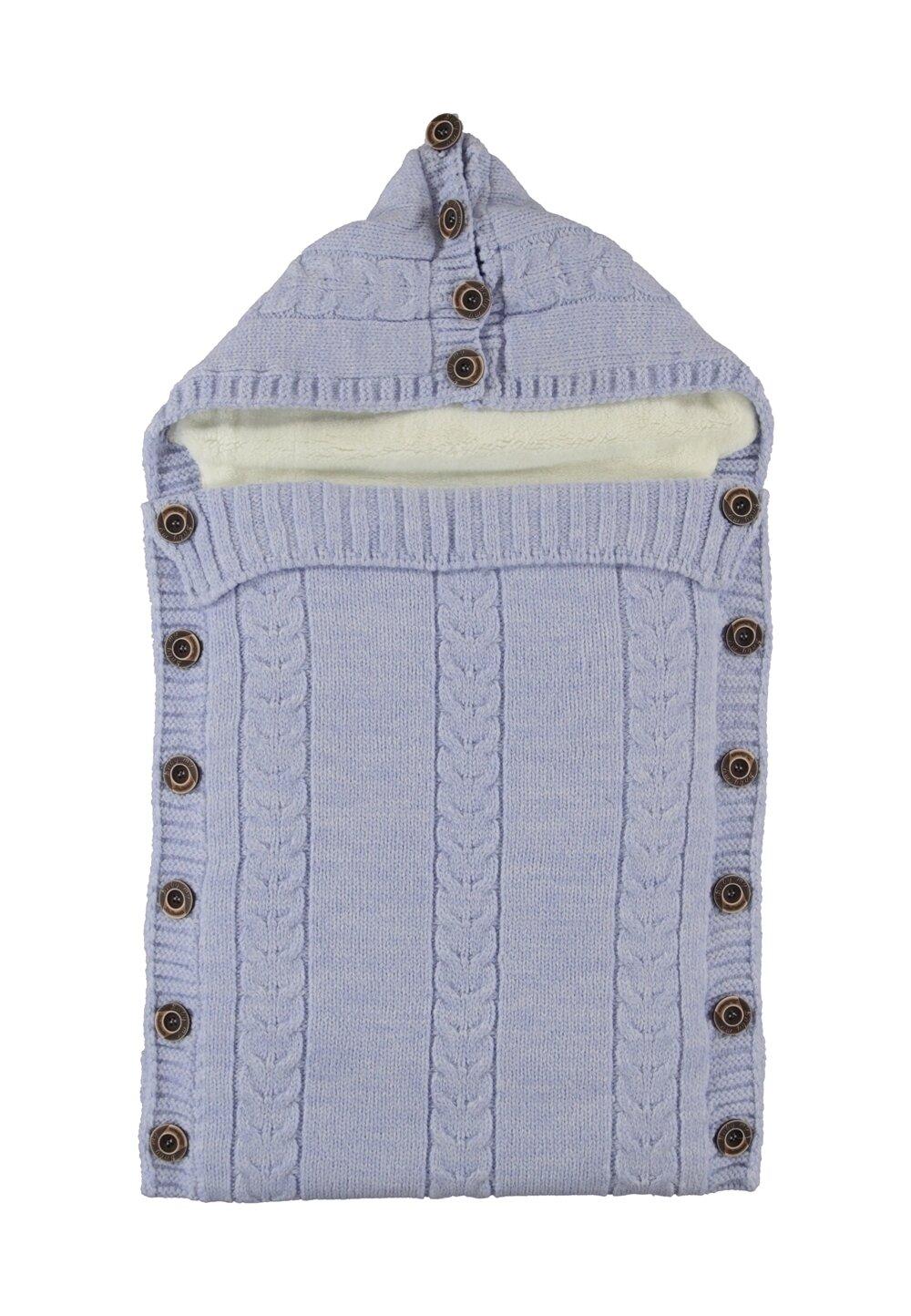 Port bebe, Baby my, tricotat, albastru imagine