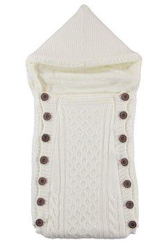Port bebe, tricotat, alb, 77x35cm