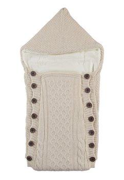 Port bebe, tricotat, crem, 77x35cm