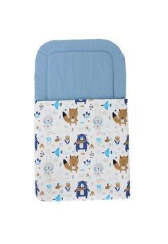 Port bebe, ursulet cu esarfa albastra, albastru