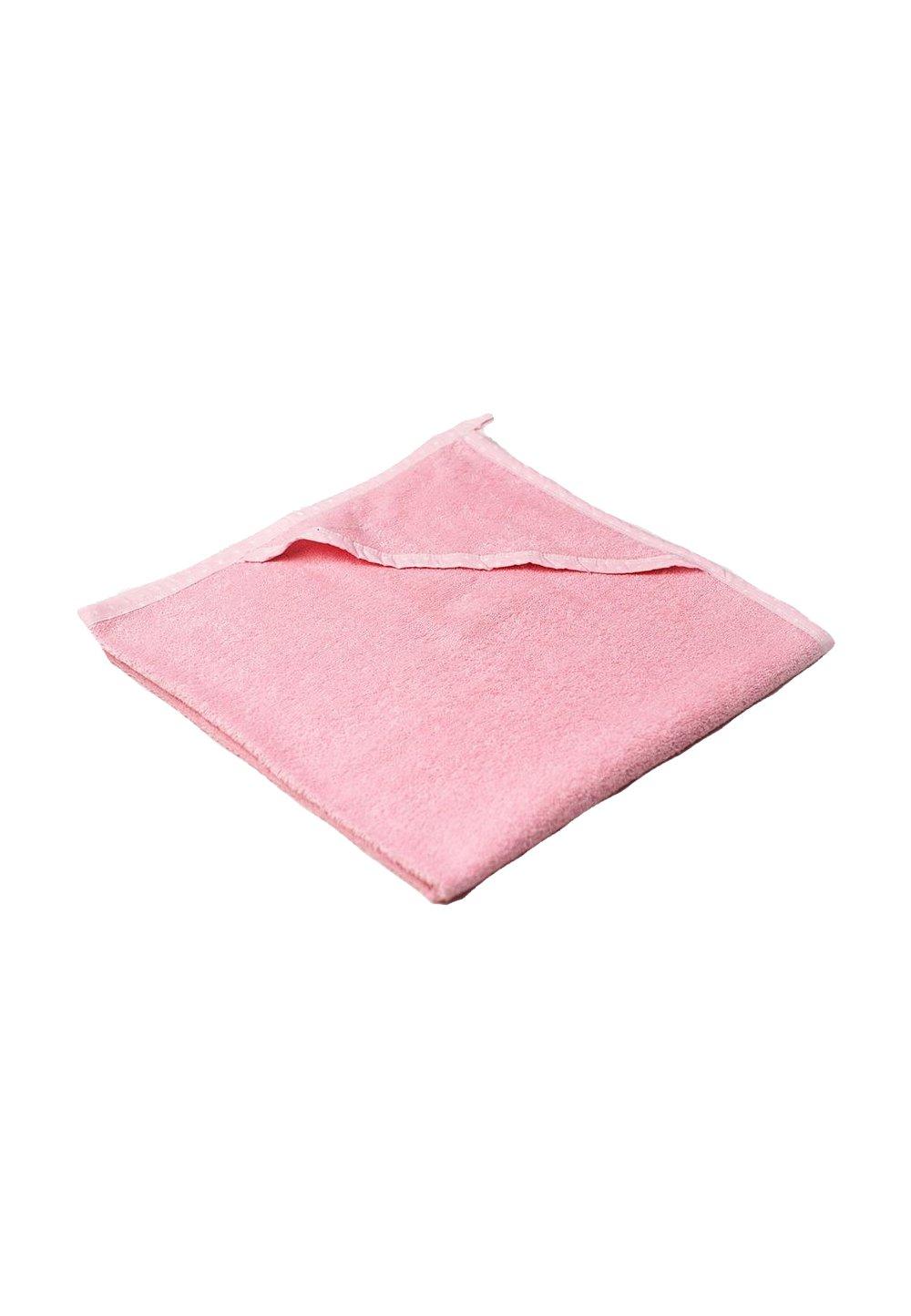 Prosop baie cu gluga, bumbac, roz cu bulinute albe , 75x75cm imagine