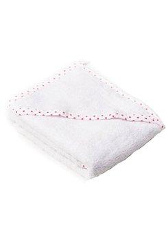 Prosop bumbac, alb, buline roz, 80x100cm