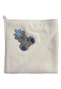 Prosop bumbac, alb, ursulet cu steluta albastra, 80x100cm