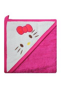 Prosop bumbac, roz, Hello Kitty, 80x100cm