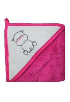 Prosop bumbac, roz inchis, hipopotam, 80 x 100 cm