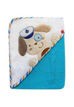 Prosop cu gluga, bumbac, albastru, 76x76cm