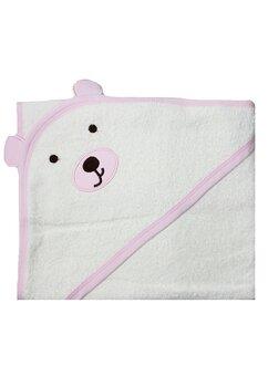Prosop cu gluga, ursulet roz, 70x90cm