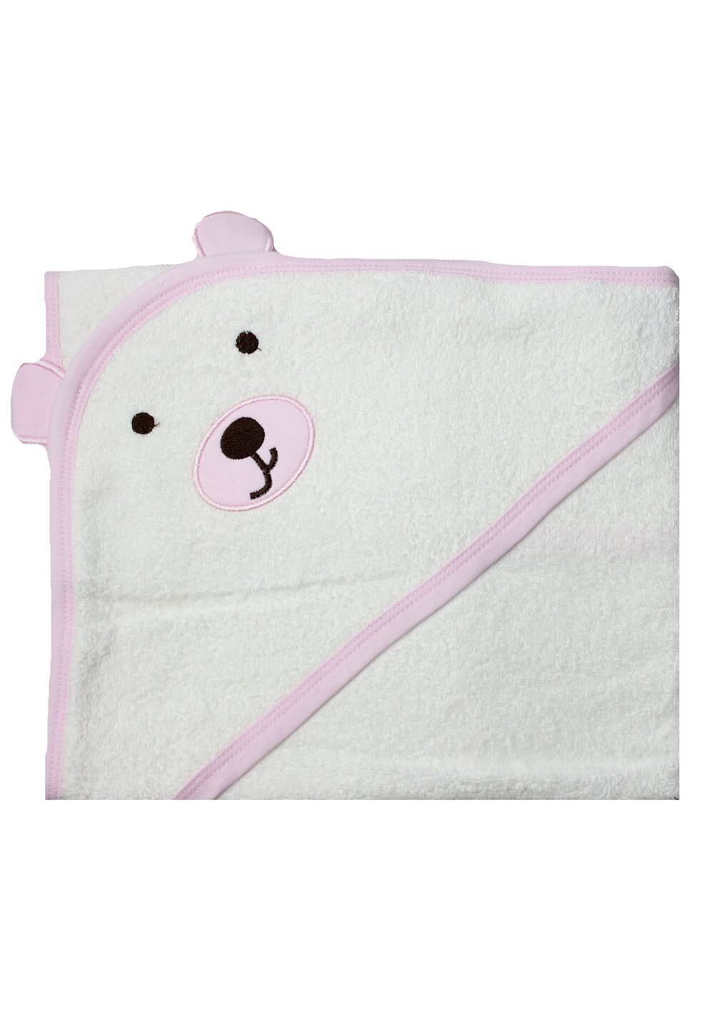 Prosop cu gluga, ursulet roz, 70x90cm imagine
