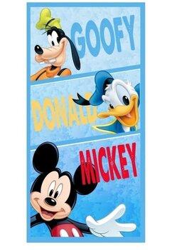 Prosop de plaja, Goofy, Donald, Mickey 140x70cm