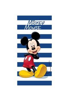 Prosop de plaja, Mickey Mouse, albastru cu dungi