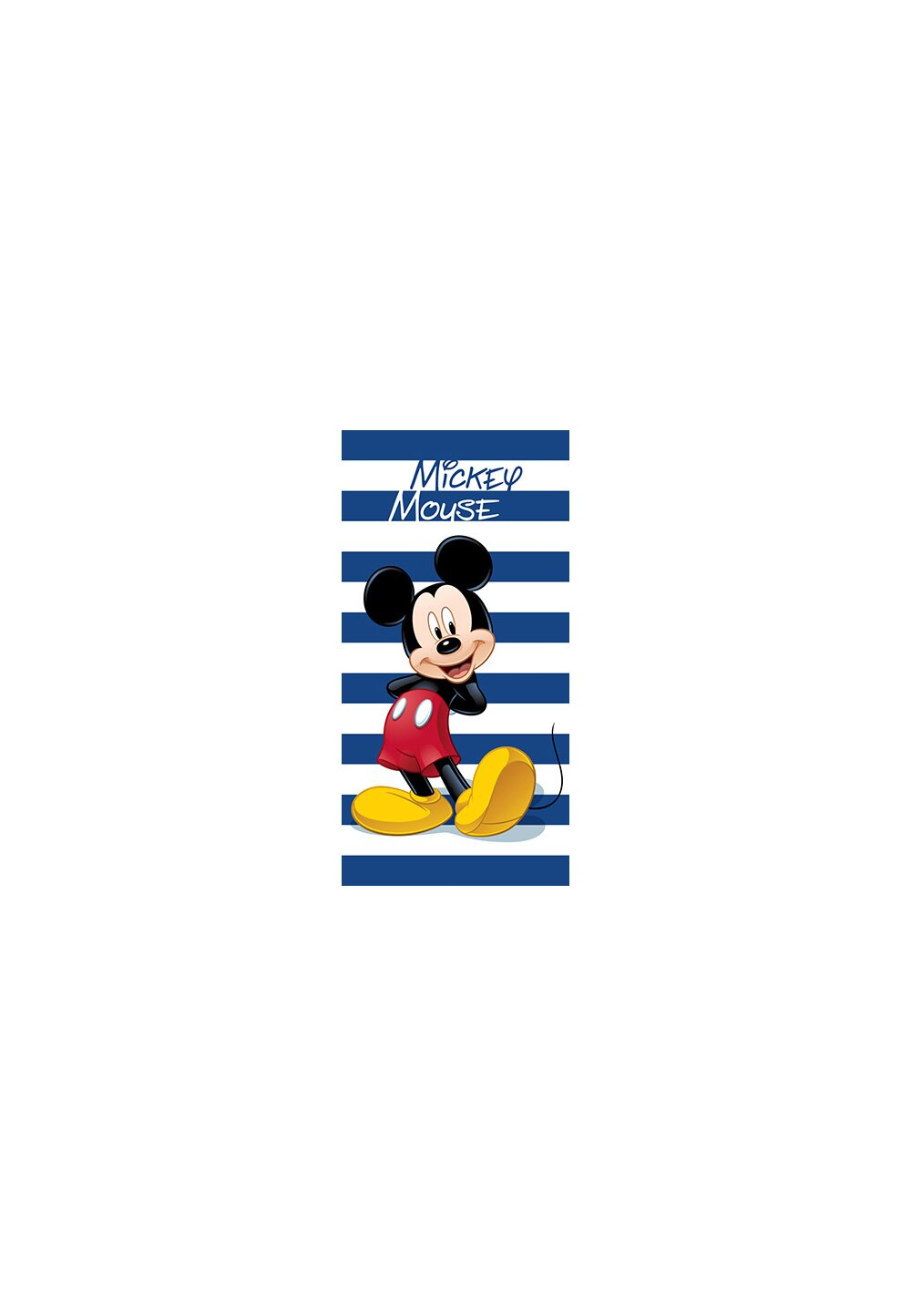 Prosop de plaja, Mickey Mouse, albastru cu dungi imagine