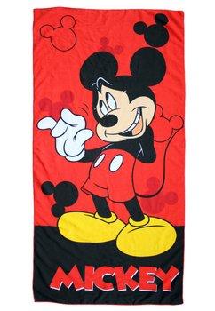 Prosop de plaja, rosu, Mickey Mouse, 70x140cm