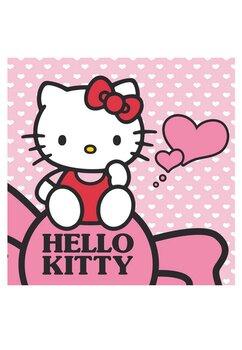 Prosopel magic, Hello Kitty, roz cu buline, 30x30cm