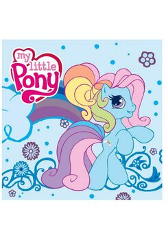 Prosopel magic, My Little Pony, albastru, 30x30cm