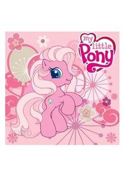 Prosopel magic, My Little Pony, roz cu flori, 30x30cm