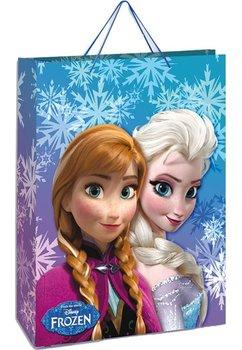 Punga cadou, mica, Anna si Elsa, cu fulgi de zapada