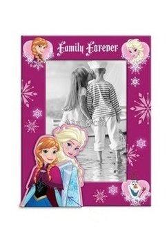 Rama foto Frozen, roz inchis