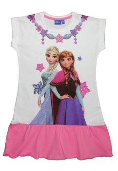 Rochie, Anna si Elsa, alb cu roz