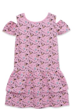 Rochie fetite, cu figurine Minnie Mouse, roz