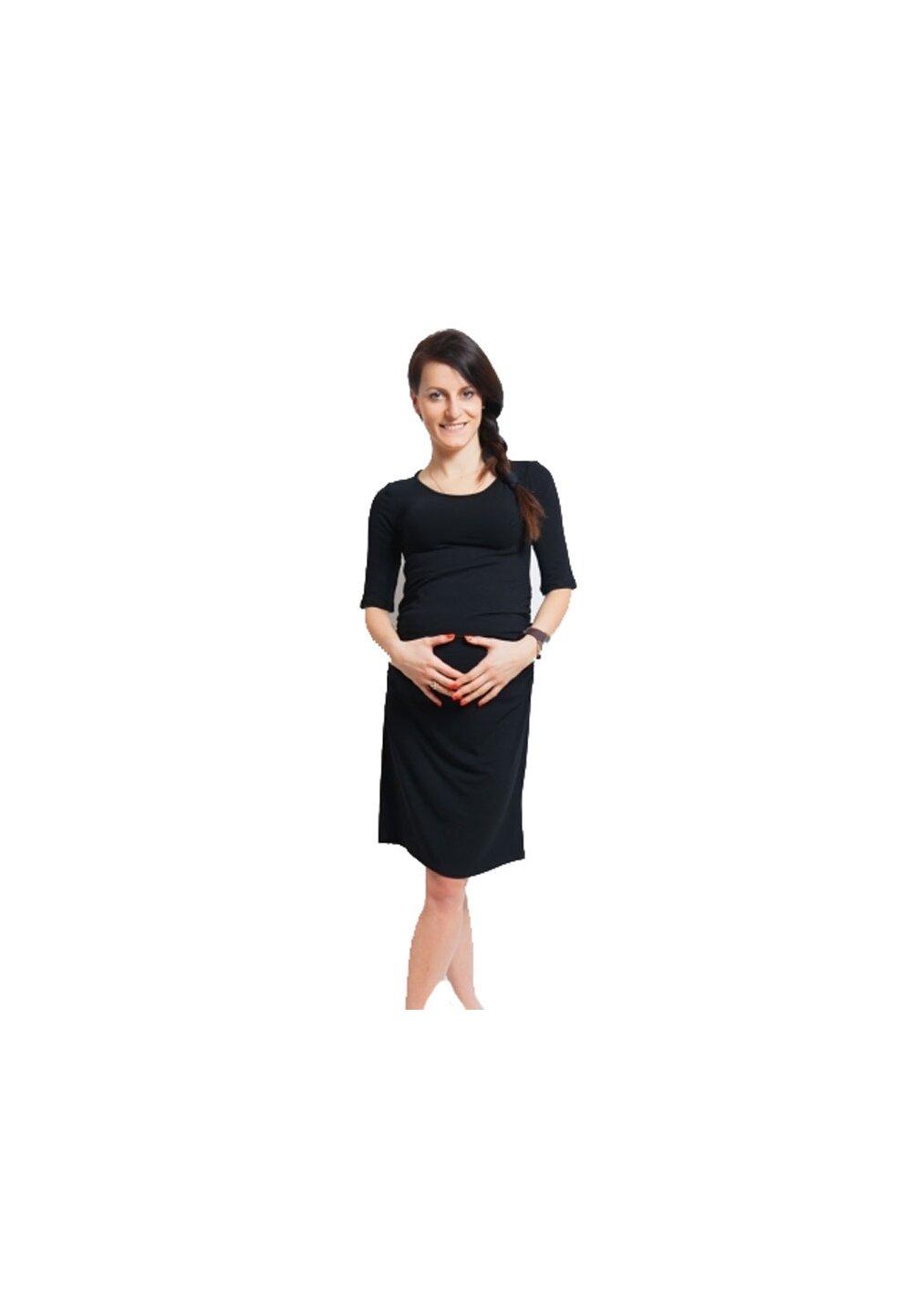 Rochie gravide, Lauren, maneci 3/4, neagra imagine