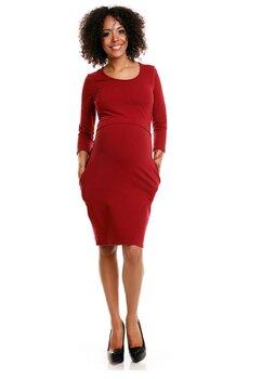 Rochie gravide, maneca 3/4, bumbac, visinie