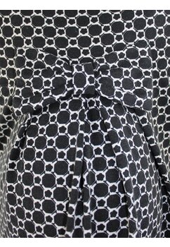 Rochie gravide, negru cu alb, cu fundita