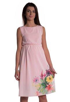 Rochie gravide, roz cu imprimeu floral