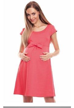 Rochie gravide, roz cu fundita