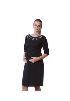 Rochie pentru gravide cu maneca 3/4, bluemarin