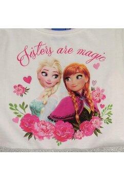 Rochie, maneca lunga, alb cu roz, Sisters are magic
