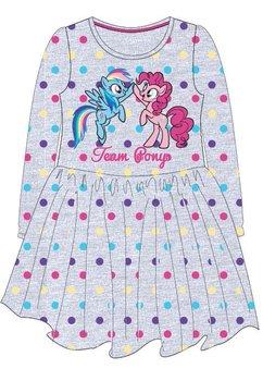 Rochie maneca lunga, Team Pony, gri cu buline