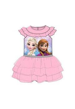 Rochie, maneca scurta, roz, Anna si Elsa