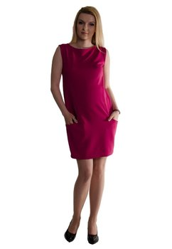Rochie maternitate, cu buzunare, roz