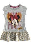 Rochie Minnie Mouse, gri cu inimioare