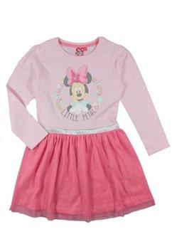 Rochie Minnie Mouse roz, maneca lunga