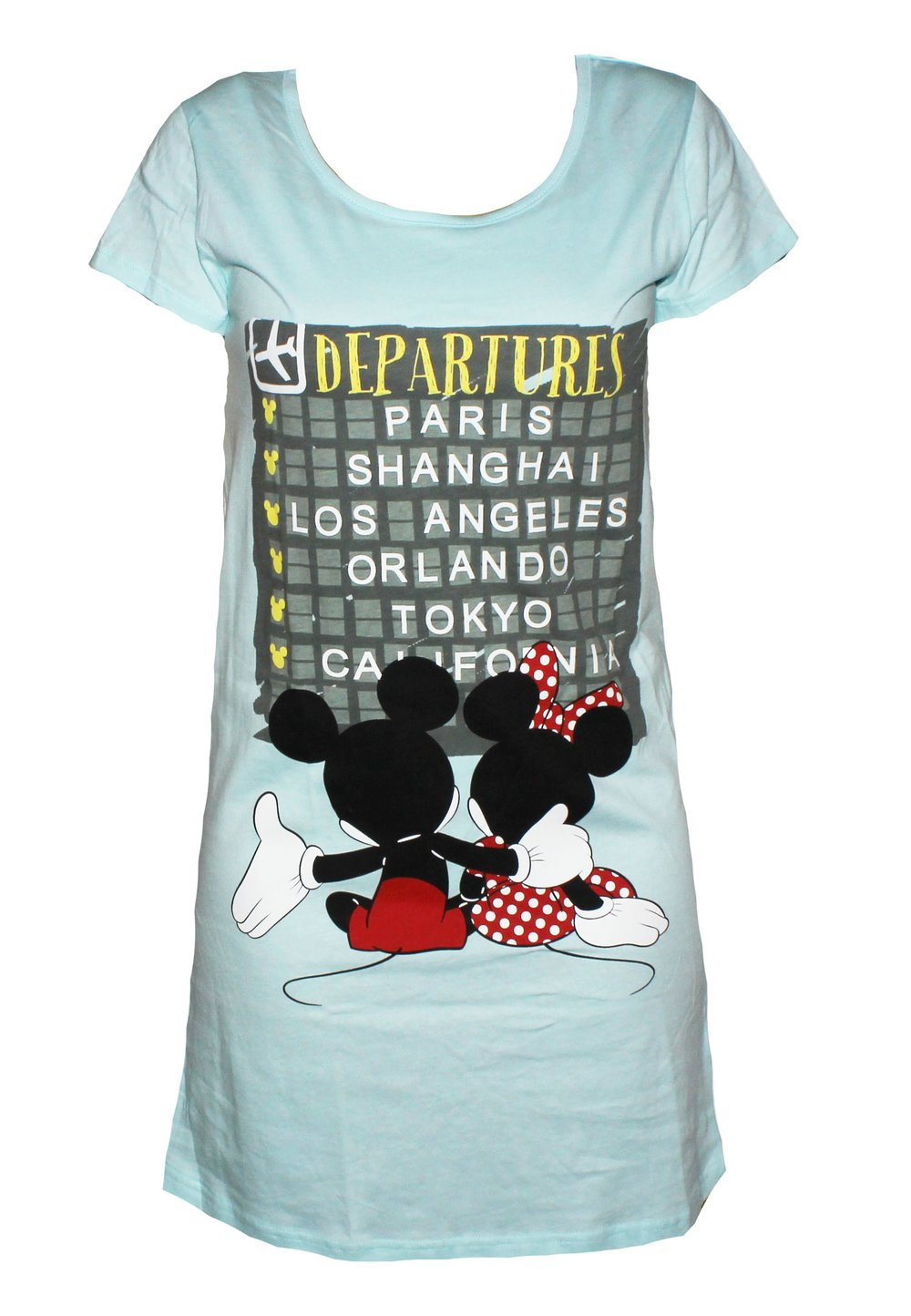 Rochie Minnie si Mickey, turcoaz