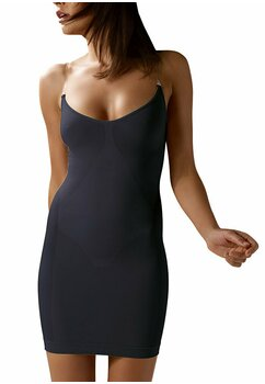 Rochie modelatoare, cu bretele, ControlBody, neagra