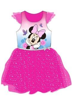 Rochie roz, tutu, Minnie cu fluturasi