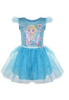 Rochie tutu Elsa, albastra cu sclipici