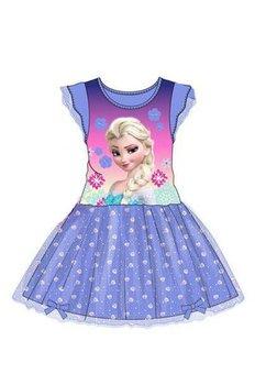 Rochie tutu, Elsa, mov cu floricele