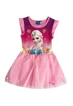 Rochie tutu, Elsa, roz cu floricele