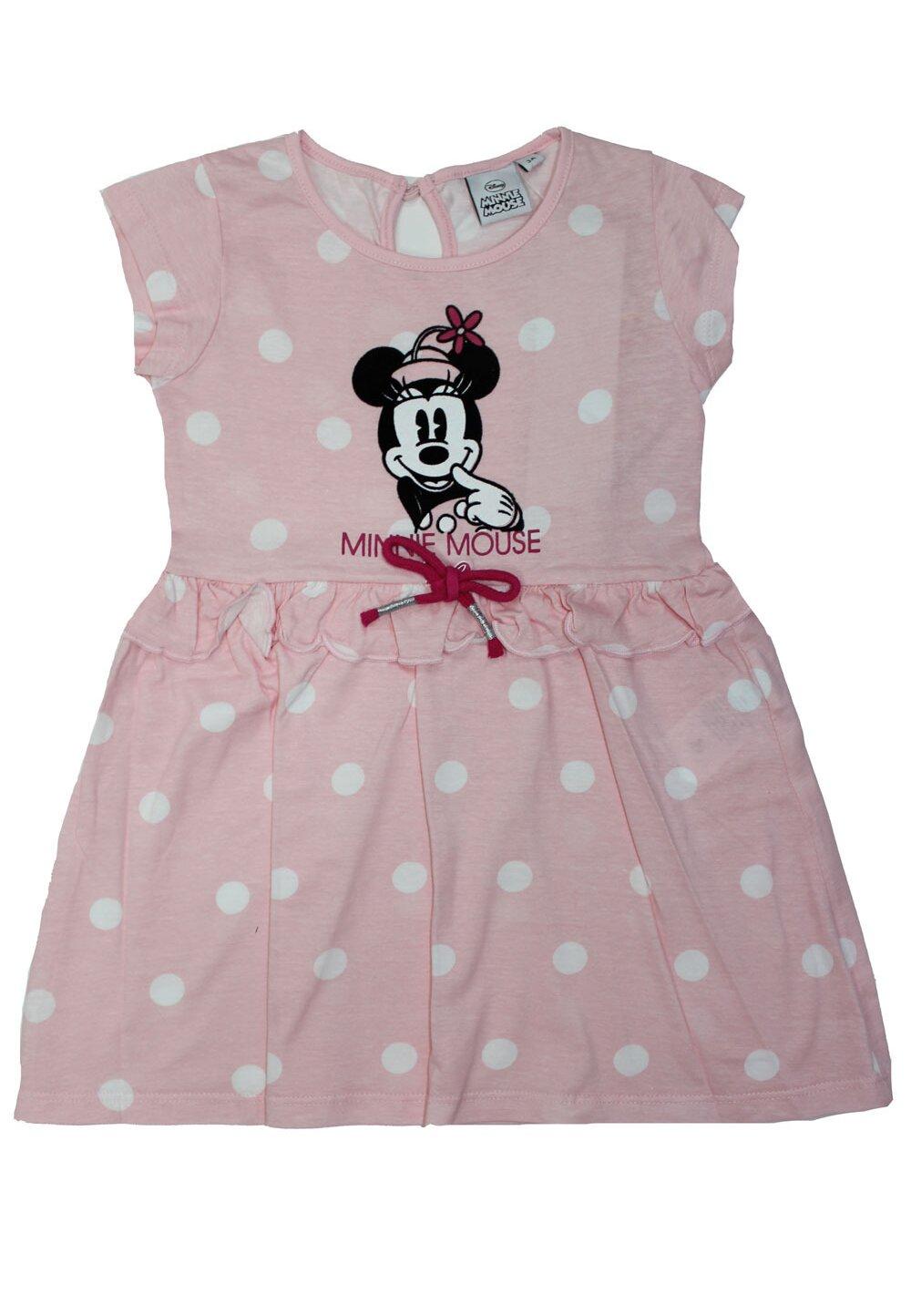 Rochie, vintage Minnie, roz cu buline albe