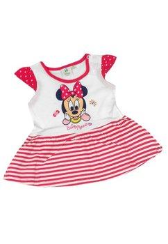 Rochita bebe, Minnie, alb cu rosu