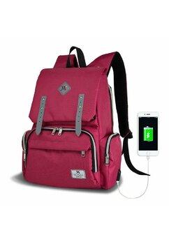 Rucsac pentru mamici, cu mufa USB, Maya, roz