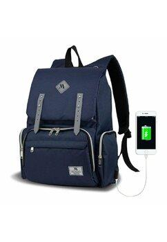 Rucsac pentru mamici, cu mufa USB, Maya, bluemarin